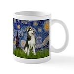Starry Night & Husky Mug