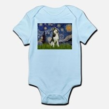 Starry Night & Husky Infant Bodysuit