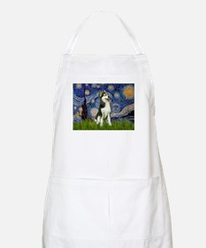 Starry Night & Husky Apron