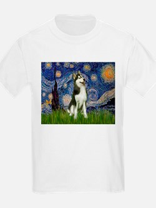 Starry Night & Husky T-Shirt