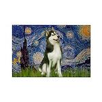 Starry Night & Husky Rectangle Magnet