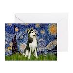 Starry Night & Husky Greeting Cards (Pk of 20)