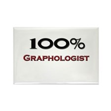 100 Percent Graphologist Rectangle Magnet (10 pack