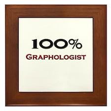 100 Percent Graphologist Framed Tile