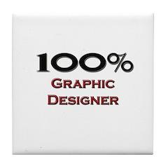 100 Percent Graphic Designer Tile Coaster