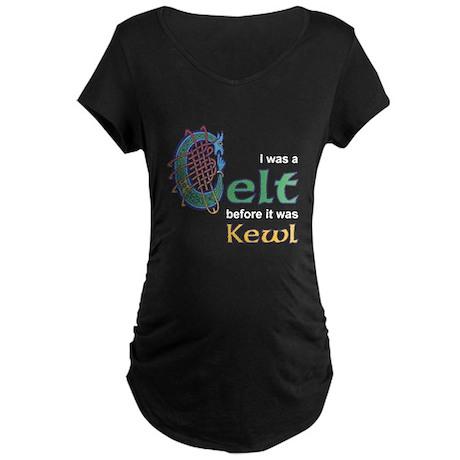 Kewl Celts Maternity Black T-Shirt
