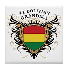 Number One Bolivian Grandma Tile Coaster
