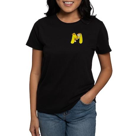 Zoo Alphabet M - Monkey Women's Dark T-Shirt