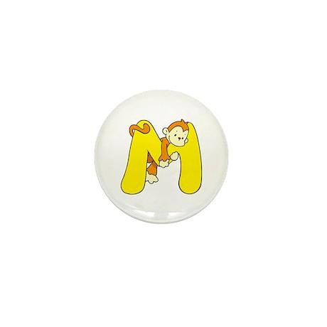 Zoo Alphabet M - Monkey Mini Button (10 pack)