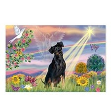 Cloud Angel Min. Pinscher Postcards (Package of 8)