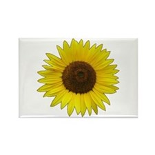 Helaine's Sunflower Rectangle Magnet