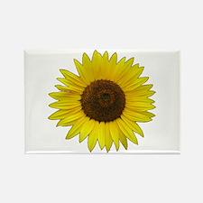 Helaine's Sunflower Rectangle Magnet