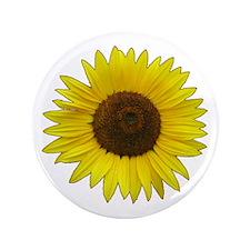 "Helaine's Sunflower 3.5"" Button"