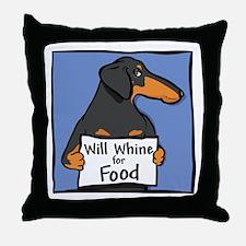 Will Whine BT Weinerdog Throw Pillow