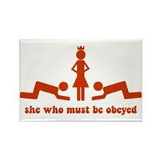 She Who Must Be Obeyed Rectangle Magnet (10 pack)