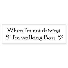 "The Low End ""Walking Bass"" Bumper Bumper Sticker"