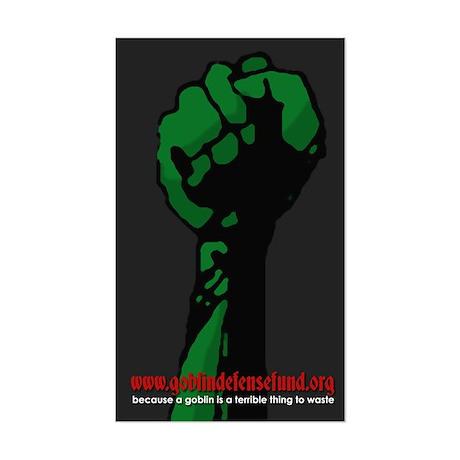 Goblin Defense Fund Rectangle Sticker