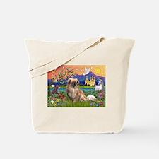 Tibetan Spaniel in Fantasyland Tote Bag
