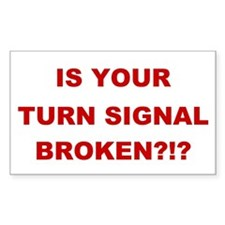 Turn Signal Stacked Rectangle Sticker 10 pk)