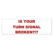 Turn Signal Stacked Bumper Sticker (10 pk)