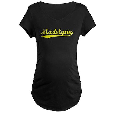 Vintage Madelynn (Gold) Maternity Dark T-Shirt