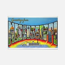 Mississippi State Greetings Rectangle Magnet