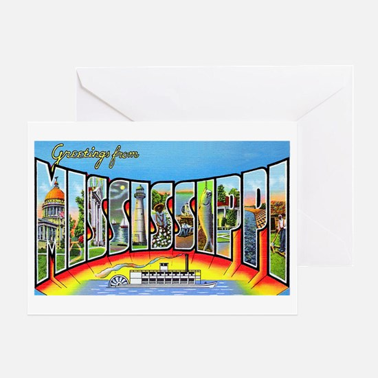 Mississippi State Greetings Greeting Card