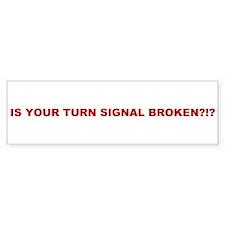 Turn Signal Bumper Sticker (10 pk)