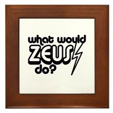 What Would Zeus Do? Framed Tile