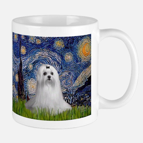 Starry Night & Maltese Mug