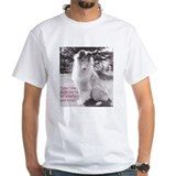 Black and white rough collie Mens White T-shirts