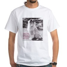 Sit Quietly Collie T-Shirt (white)