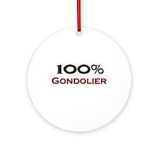 100 Percent Gondolier Ornament (Round)