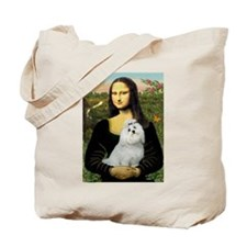 Mona Lisa/Maltese (#6) Tote Bag