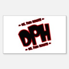 DEL PASO HEIGHTS (DPH) -- T-S Rectangle Decal