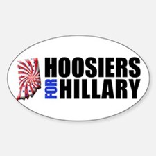 Hoosiers for Hillary! Oval Decal