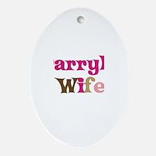 Darryl's Wife Oval Ornament