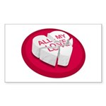 All My Love Broken Heart Rectangle Sticker 50 pk)