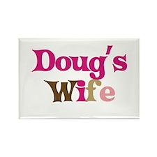 Doug's Wife Rectangle Magnet
