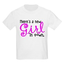New Girl in town Kids Light T-Shirt