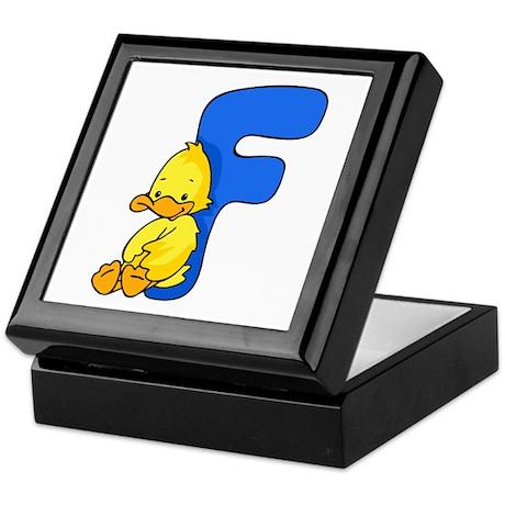 Zoo Alphabet F - Duck Keepsake Box