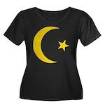 Anarchy Symbol Women's Plus Size Scoop Neck Dark T