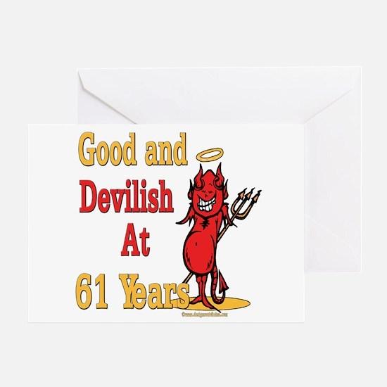 Devilish at 61 Greeting Card