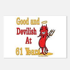 Devilish at 61 Postcards (Package of 8)