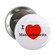 I Love Massachusetts Button