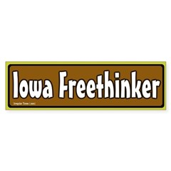 Iowa Freethinker Bumper Bumper Sticker