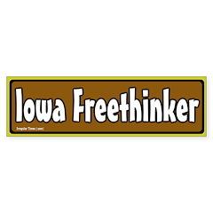 Iowa Freethinker Bumper Bumper Sticker