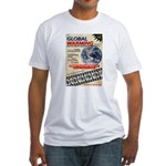 Global Warming Hollywood Vintage Poster Fitted T-S