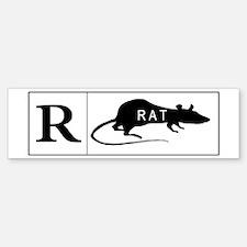 RATed R Bumper Bumper Bumper Sticker