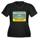B.F.C. Exit Women's Plus Size V-Neck Dark T-Shirt